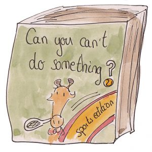 Can you can't do something? sports edition book